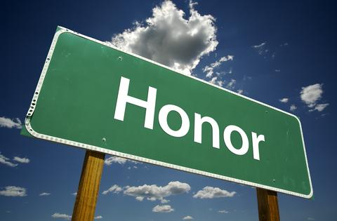 honor - street sign
