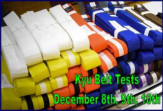kyu belt tests