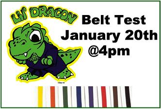 Lil' Dragons Belt Test